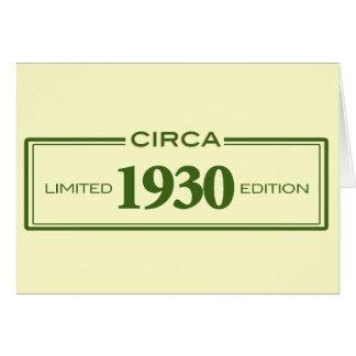 circa 1930 card