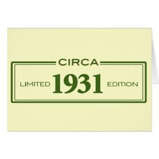circa 1931 card