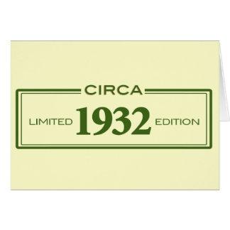 circa 1932 card