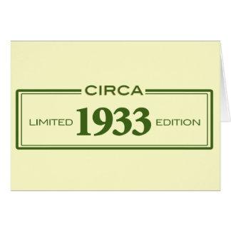 circa 1933 card