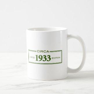 circa 1933 classic white coffee mug