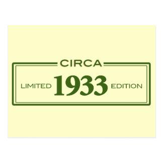circa 1933 postcard