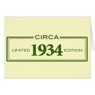 circa 1934 card