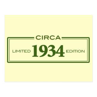 circa 1934 postcard