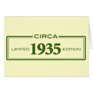 circa 1935 card