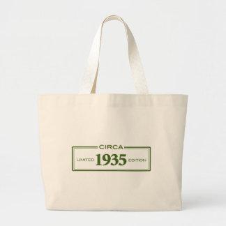 circa 1935 large tote bag