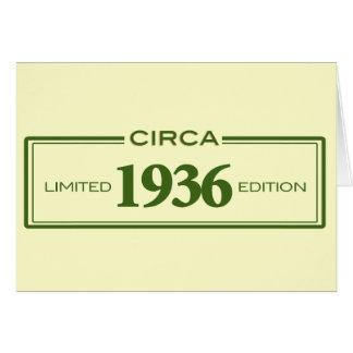 circa 1936 card