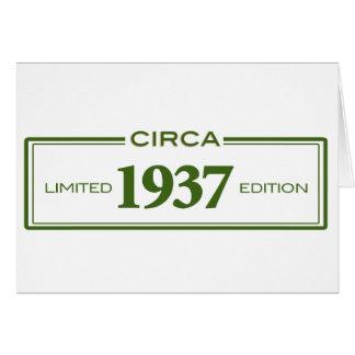 circa 1937 card