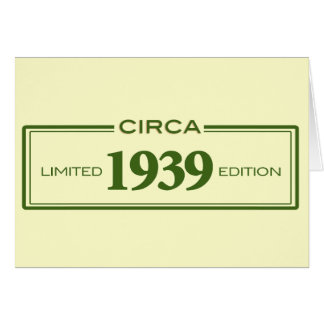 circa 1939 card