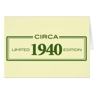circa 1940 card