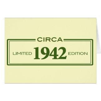 circa 1942 card