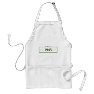 circa 1945 adult apron