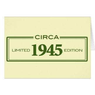circa 1945 card
