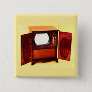 circa 1950 television set no. 1 pinback button
