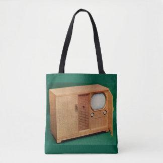 circa 1951 television set Danish modern no. 2 Tote Bag
