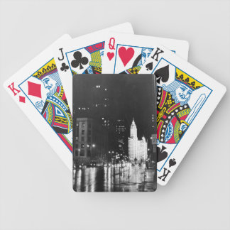 circa 1954:  A view down Michigan Avenue Bicycle Playing Cards