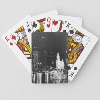 circa 1954:  A view down Michigan Avenue Playing Cards