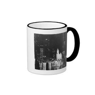 circa 1954:  A view down Michigan Avenue Ringer Mug