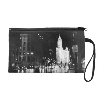 circa 1954:  A view down Michigan Avenue Wristlet Purse