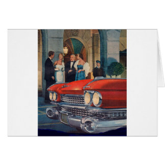 circa 1960 red Cadillac grille Card