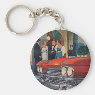 circa 1960 red Cadillac grille Keychain