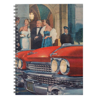 circa 1960 red Cadillac grille Spiral Notebook