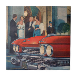 circa 1960 red Cadillac grille Tile