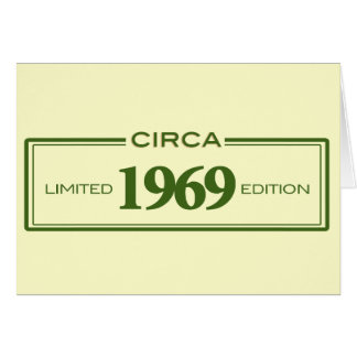circa 1969 card