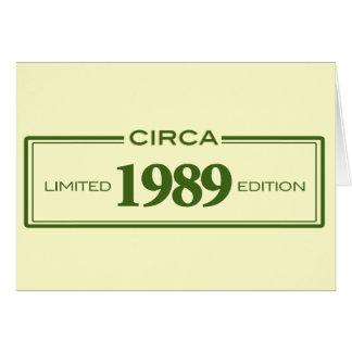 circa 1989 card