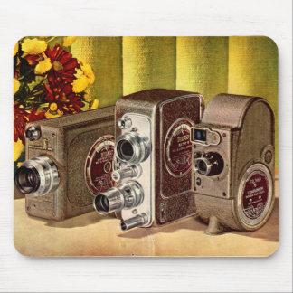 circa anuncio de 1950 cámaras de película casera alfombrillas de ratón