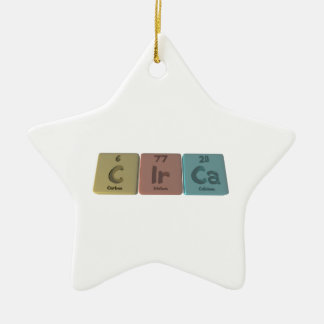 Circa-C-Ir-Ca-Carbon-Iridium-Calcium.png Ceramic Ornament
