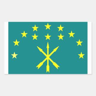Circassian Israeli flag Rectangular Sticker
