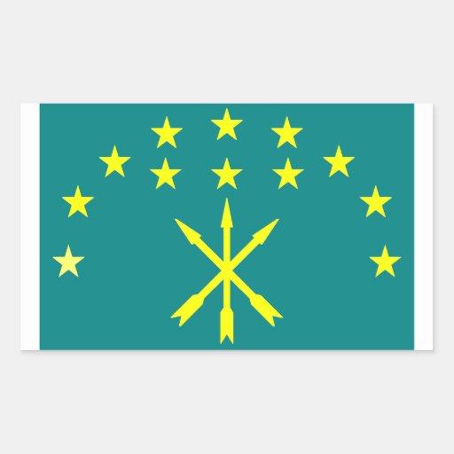 Circassian Israeli flag Sticker