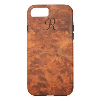 Circassian Walnut Burl iPhone 7 case *monogram*