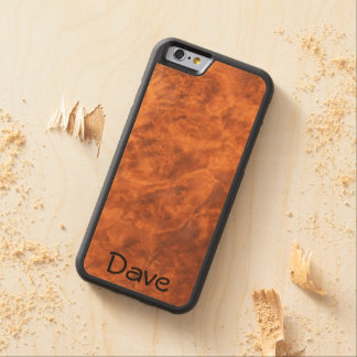 Circassian Walnut on Maple Carved Wood iPhone 6 Carved Maple iPhone 6 Bumper Case