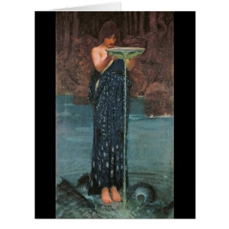 Circe 1892 large greeting card