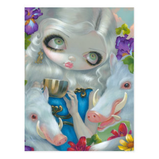 """Circe and the Swine"" Postcard"