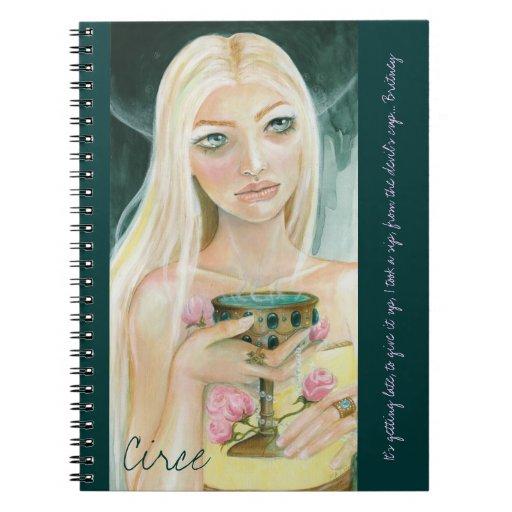 Circe - cuaderno moderno de la pintura de la diosa