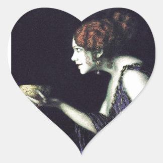 Circe de Francisco von Stuck's Pegatina En Forma De Corazón