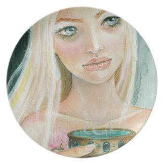 Circe - diosa - taza de placa del arte del veneno plato de cena