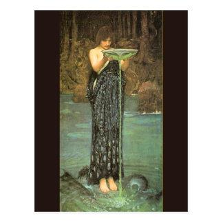 Circe Invidiosa - 1892 de John William Waterhouse Tarjetas Postales