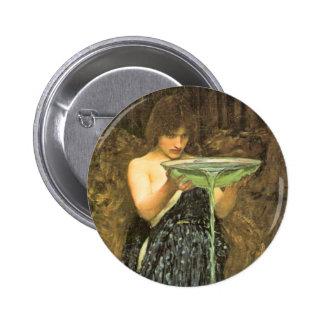 Circe Invidiosa by John William Waterhouse 2 Inch Round Button