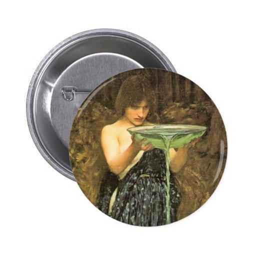 Circe Invidiosa by John William Waterhouse Pinback Buttons