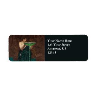 Circe Invidiosa by John William Waterhouse Label