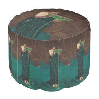 Circe Invidiosa by John William Waterhouse Round Pouf