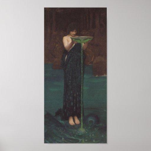 Circe Invidiosa by John William Waterhouse Poster