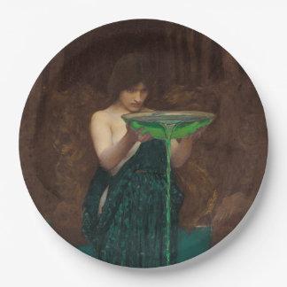 Circe Invidiosa by John William Waterhouse 9 Inch Paper Plate