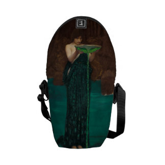 Circe Invidiosa by John William Waterhouse Vintage Messenger Bag