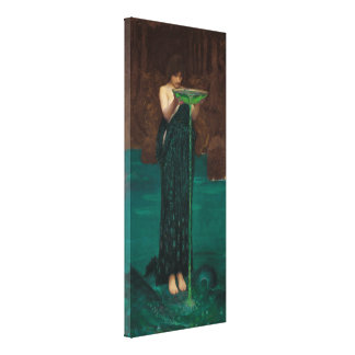 Circe Invidiosa by Waterhouse Canvas Print