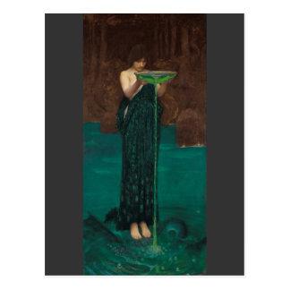 Circe Invidiosa by Waterhouse Postcard